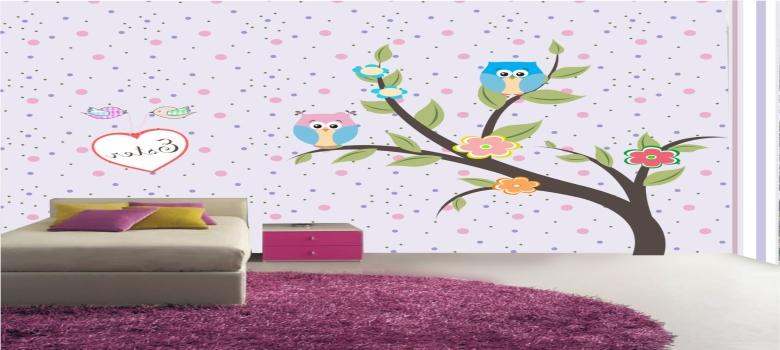 Papel de parede para quarto infantil feminino como usar for Papel para pared infantil