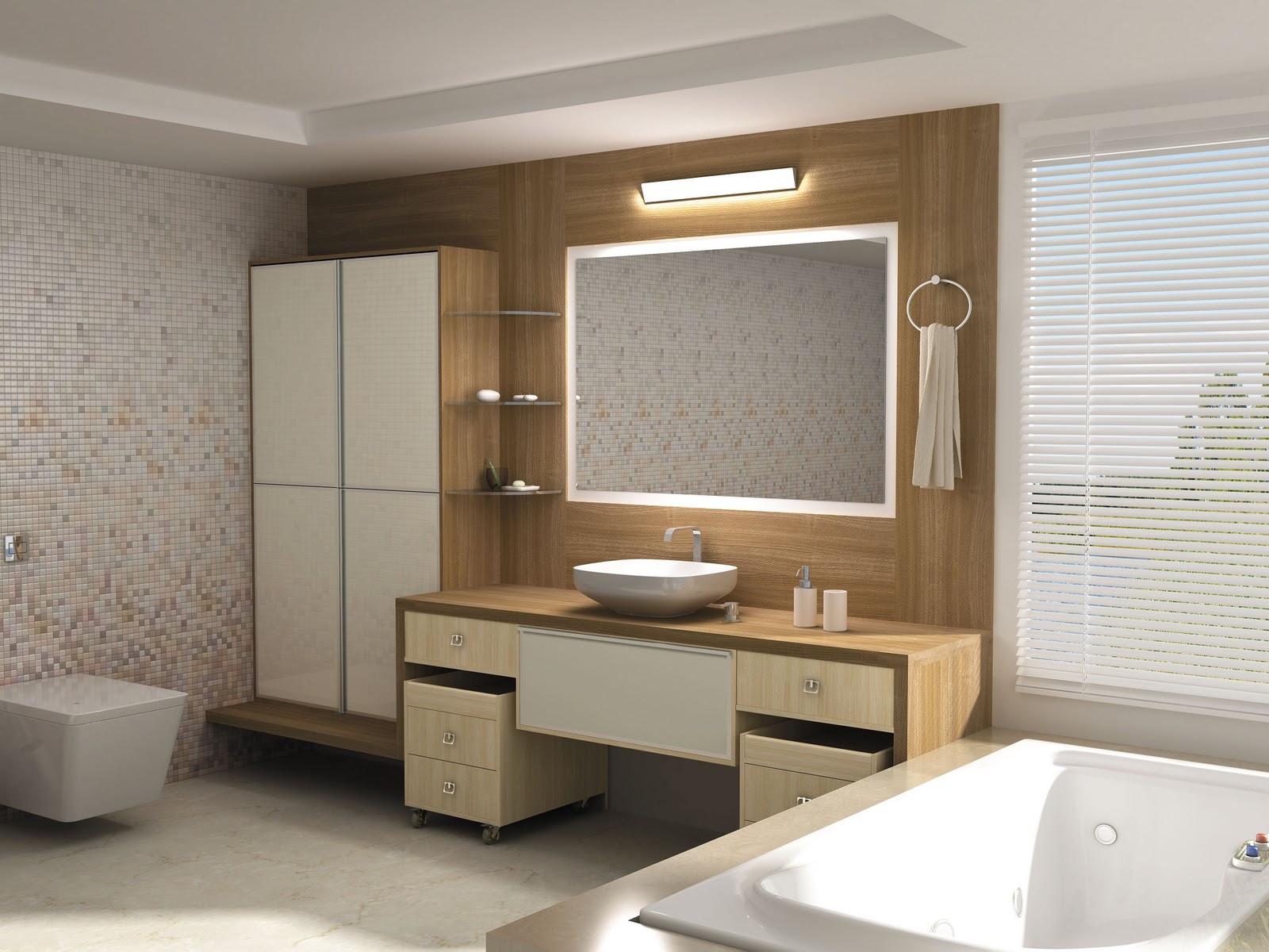 Armários planejados para banheiro grandes e pequenos 3