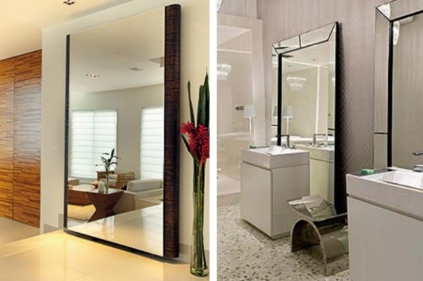 Espelhos: Decoração de Interiores Apartamentos Pequenos