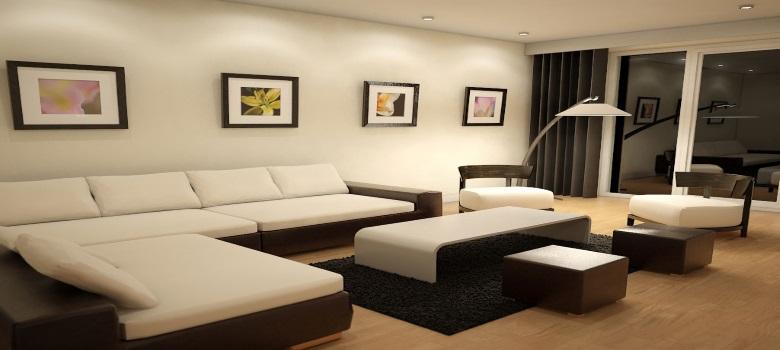 Sala de estar moderna e bonita como decorar for Salas en l modernas