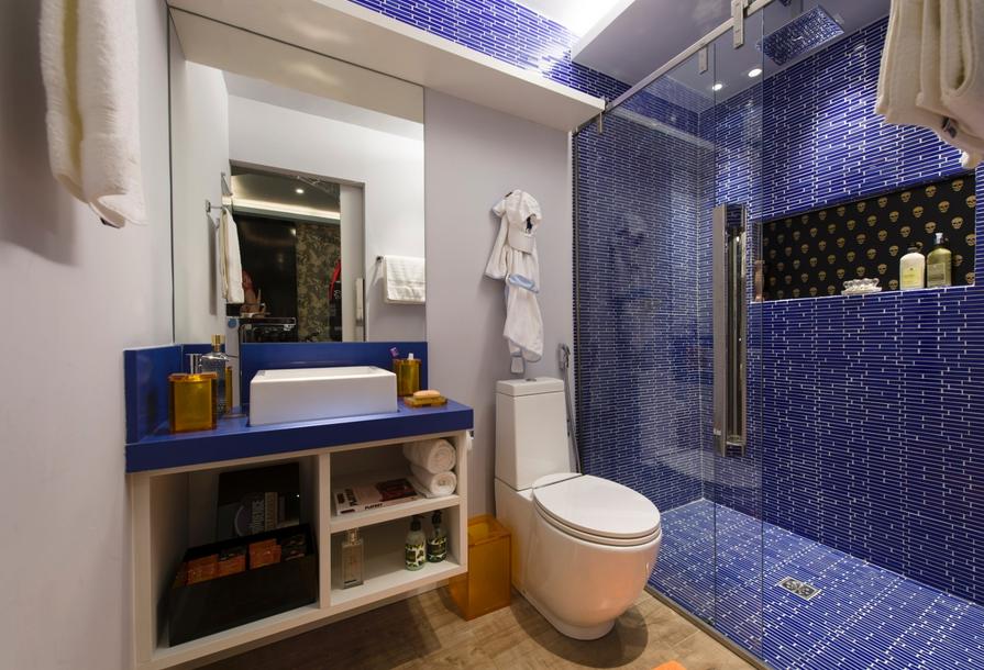 acabamentos modernos Decoração Para Banheiro