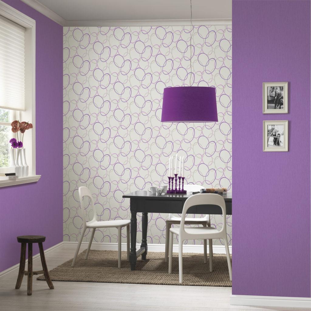 contraste com paredes marcantes Papel de Parede Branco