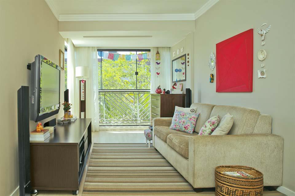 Aprenda a escolher a cor para a parede da sala for Fotos de sala de estar simples