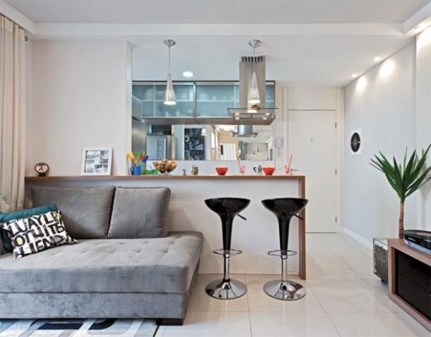 Decora o de interiores para apartamentos pequenos - Decorar mueble de salon ...