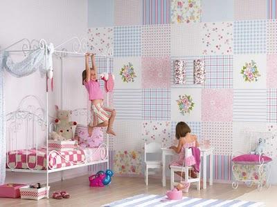 faca um patchwork na sua parede Tecidos para Decoração (2)