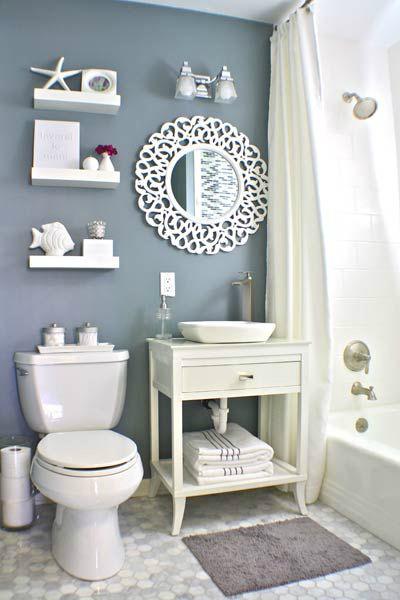 mais espaco para organizar Banheiro Pequeno Decorado