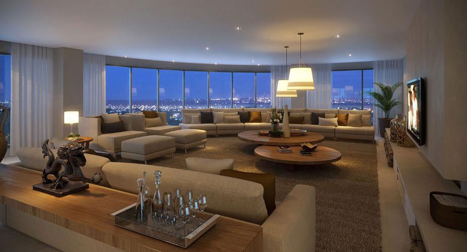 Apartamentos de luxo decorados como decorar dicas for Apartamentos modernos decorados
