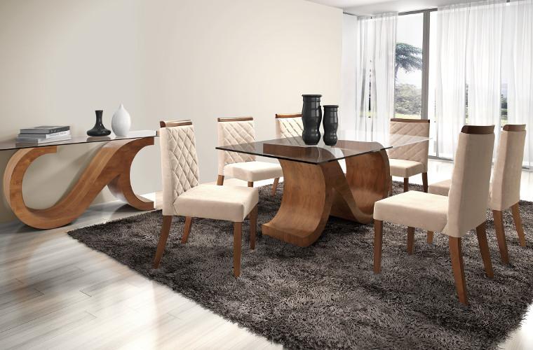 Cadeiras modernas para sala de jantar – Estofadas, Design (10) dicas de decoração fotos