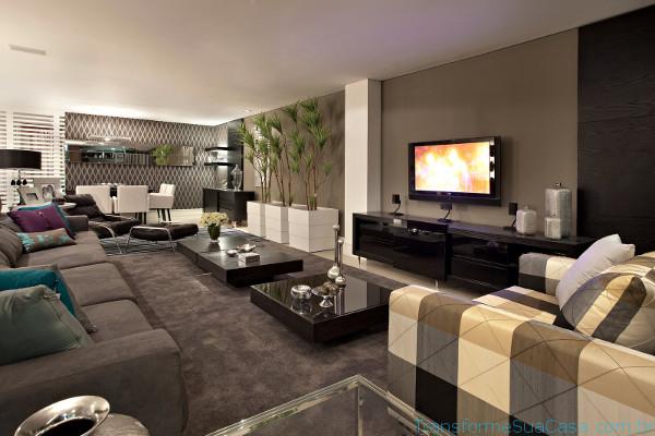 Decoração de salas modernas - Como decorar 1