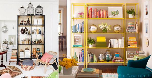 Estante para sala – Como escolher 5 dicas de decoração como decorar como organizar