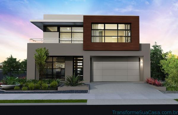 fachada de casa moderna bonita peque a dos niveles