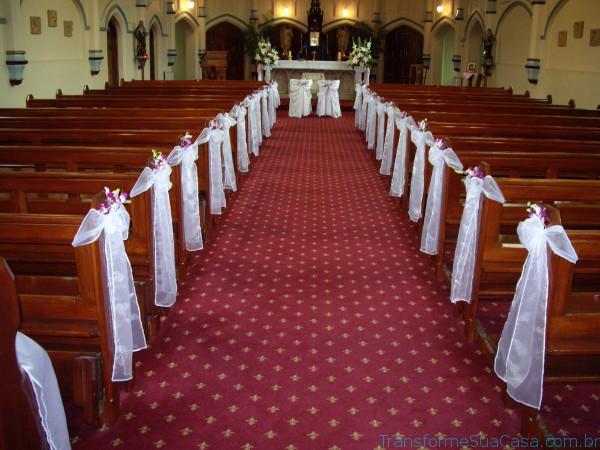 Igreja decorada para casamento - Melhores dicas 10