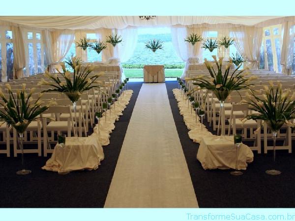 Igreja decorada para casamento - Melhores dicas 9