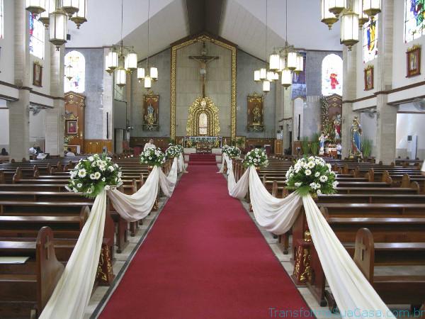 Igreja decorada para casamento - Melhores dicas 8
