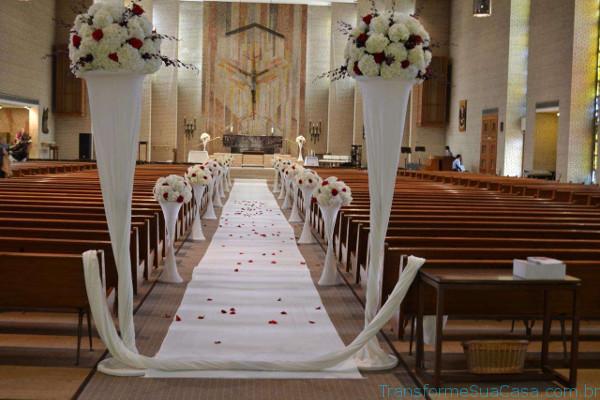 Igreja decorada para casamento - Melhores dicas 7