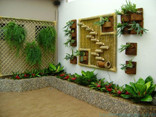 Jardim vertical Como fazer -> Decoração De Ambientes Externos Fotos