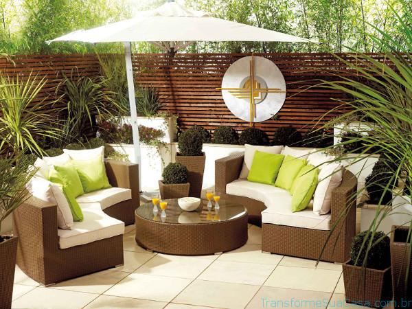 Móveis para jardim e varanda – Como escolher 8 dicas de decoração como decorar como organizar