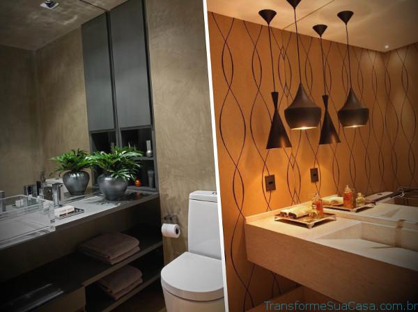 Papel de parede para lavabo - Como usar 6