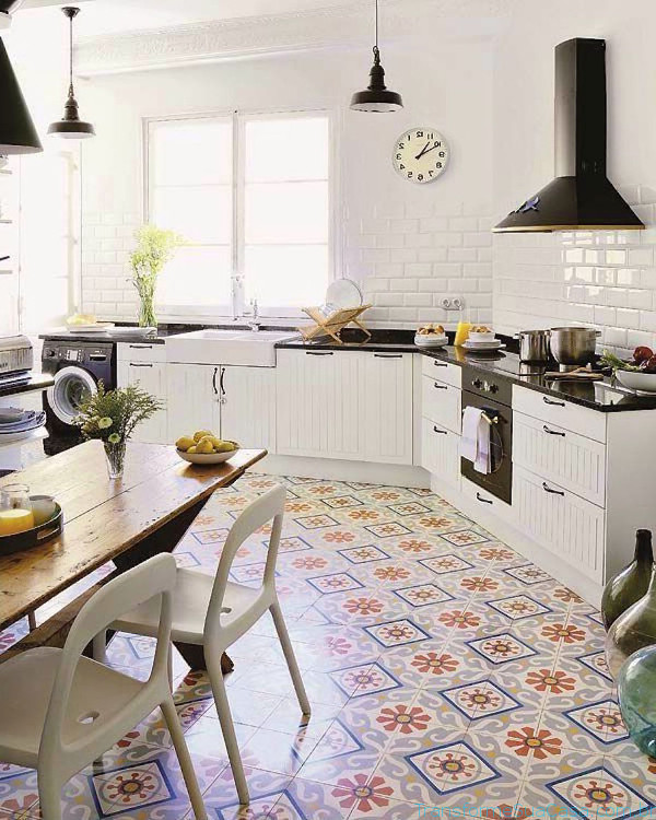 Piso para cozinha como escolher for Imagenes de pisos decorados
