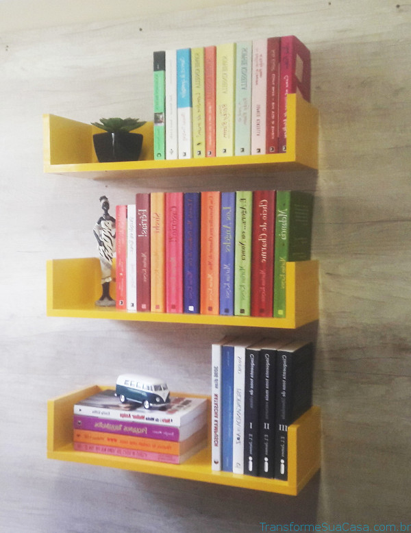 Prateleira para livros – Como escolher (5) dicas de decoração como decorar como organizar