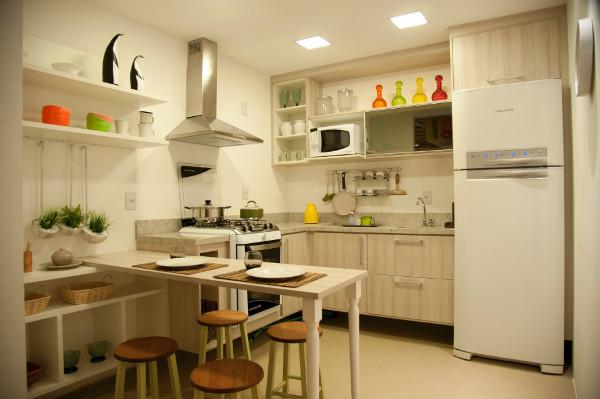 Cores para cozinha - Dicas, Fotos, Parede, Pequena, Planejada