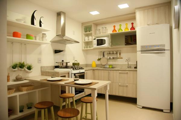 Cozinha americana para casas - Pequenas, simples, fotos, dicas, objetos 2