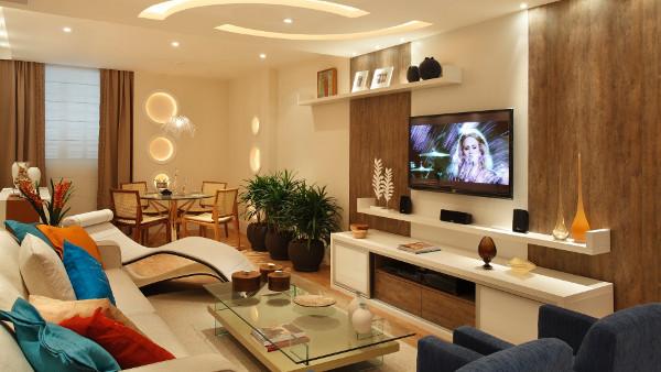 Decoraç u00e3o de sala Simples, barata, fotos, dicas, de tv, pequena, de jantar -> Decoração De Interiores Salas Simples