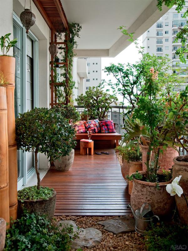decoração rústica para varanda