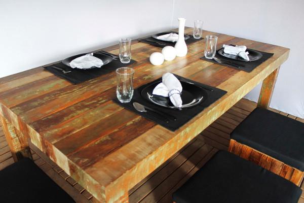 Mesas rústicas - De madeira, como escolher, para churrasco, decoração 18