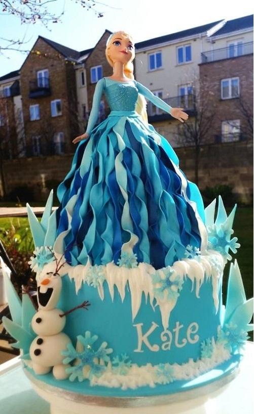 Bela Elsa congelado o bolo de aniversário