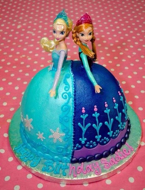Elsa e Ana congelado o bolo de aniversário Circular