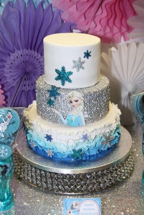 Elsa Silver confeiteiro bolo congelado