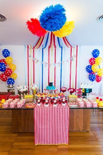Festa de aniversário circo