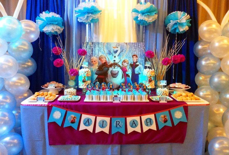 festa frozen decoracao colorida