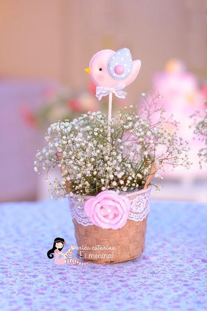 Chá de bebê de passarinhos