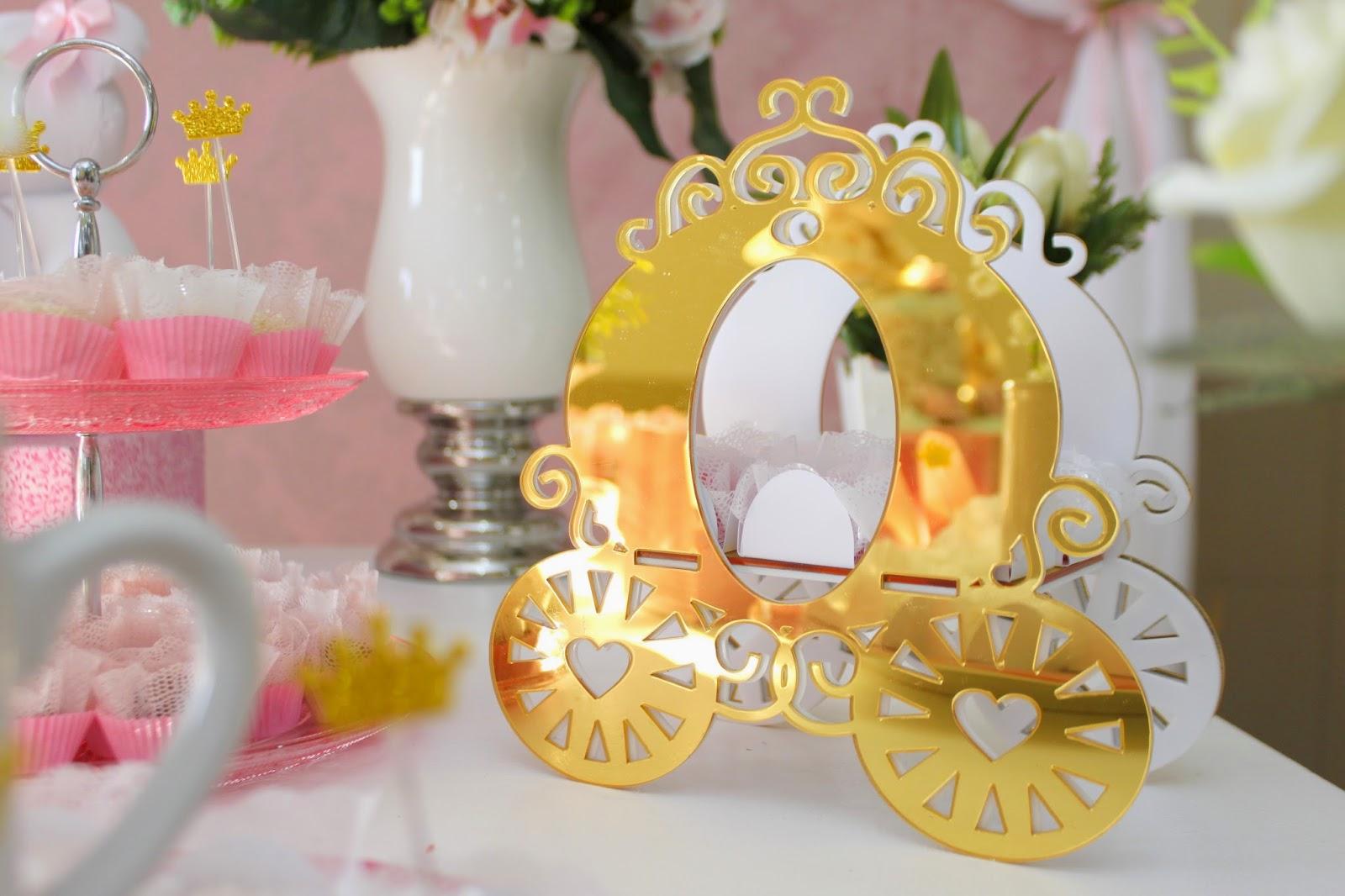 Chá de bebê de princesa