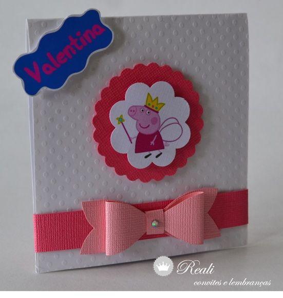 Os convites da festa infantil Peppa Pig