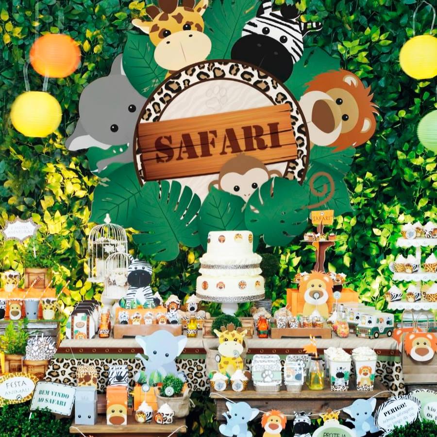 Os temas de festa infantil na MZ Decorações Safari