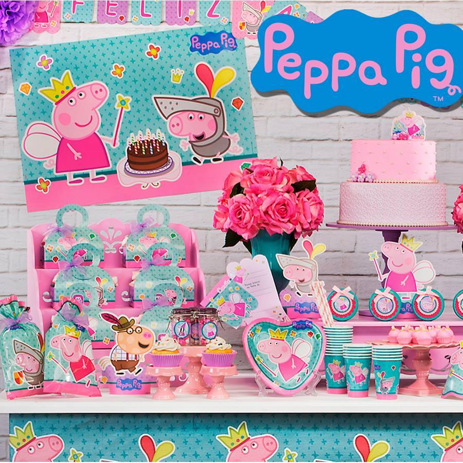Os temas de festa infantil na MZ Decorações Peppa Pig