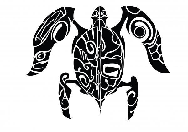 tatuagens Maori Tartaruga