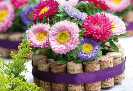 mistura com flores coloridas