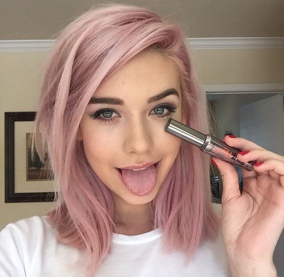 Cores de cabelo feminino rosa