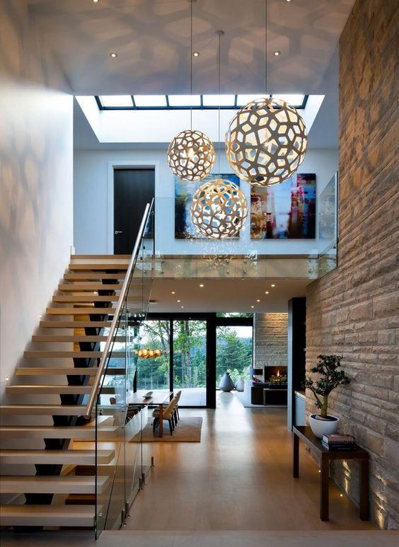 Como definir as escadas internas