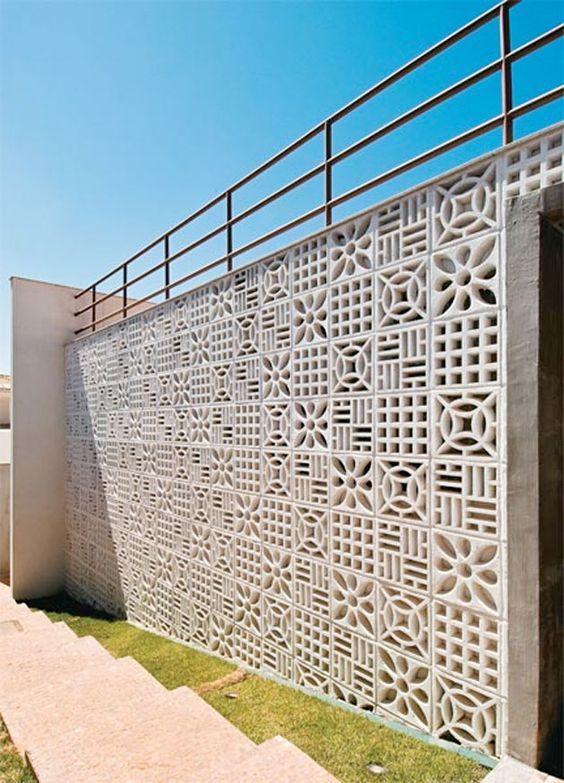 Modelos de muros e fachadas residenciais
