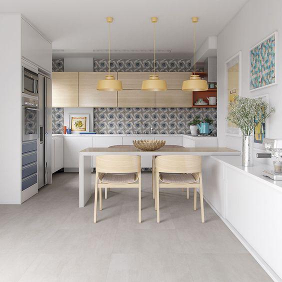 Os melhores pisos para cozinha Porcelanato