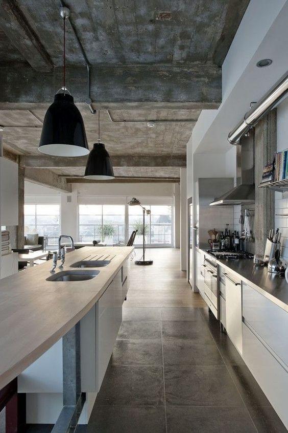 Pisos para cozinha e parede Cimento Queimado