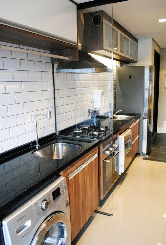 Cozinhas corredor bem organizadas