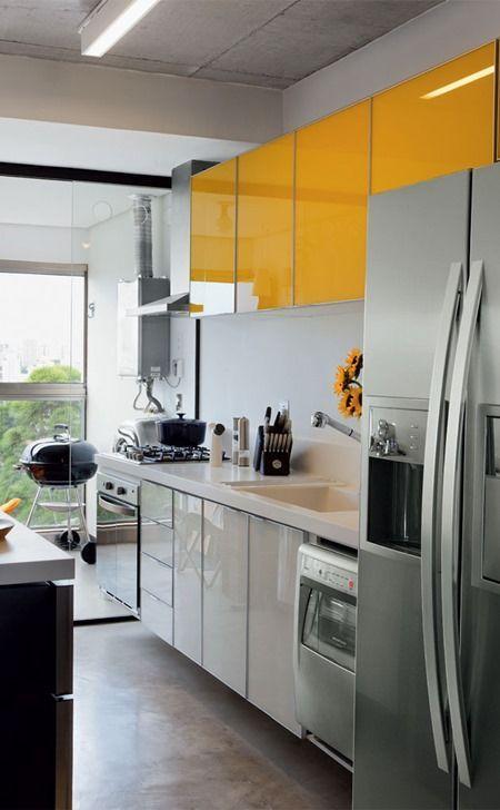 Cozinhas corredor bem organizadas: dicas infalíveis para a sua casa! 5