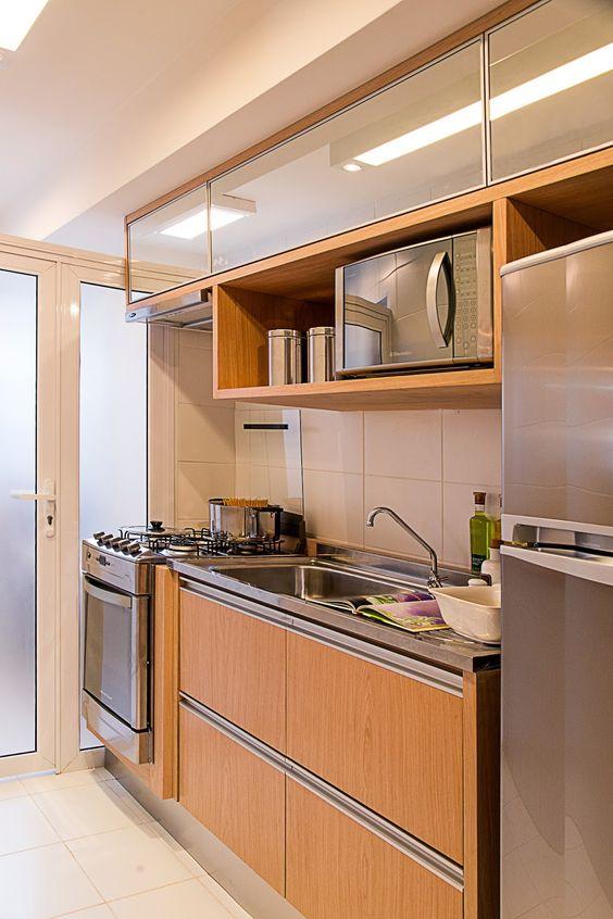 Inspirações de cozinhas corredor