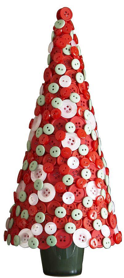 arvore de natal artesanal botões
